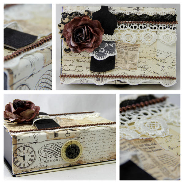 Altered cigar box. The Piece by Piece