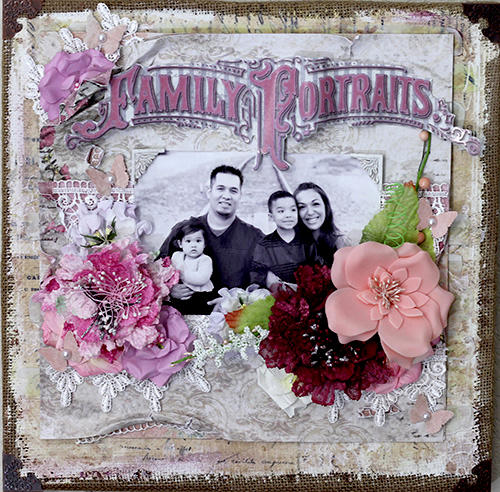Canvas Family Portraits Layout. **Manor House Creations**