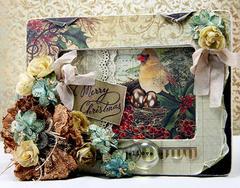 Christmas frame. **Manor House Creations**