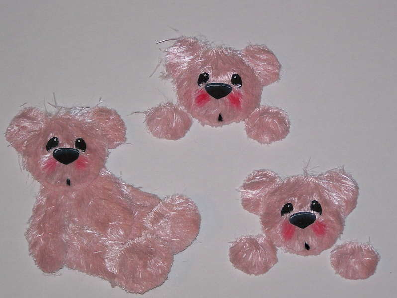 Pink Faux Fur Bear Set