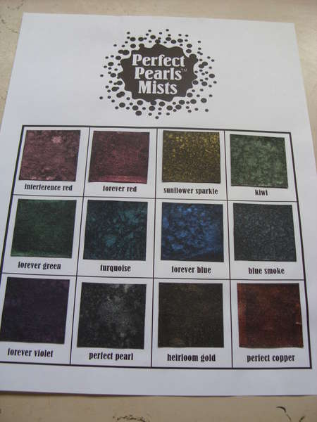 Perfect Pearls Mists Inventory