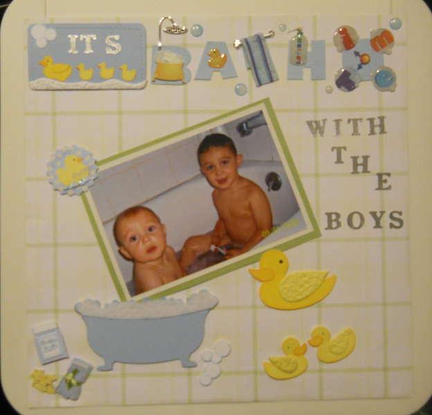 Bath Time With The Boys