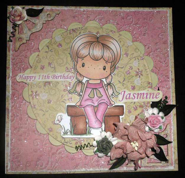 Jasmine Birthday card - Flourish with a Bling