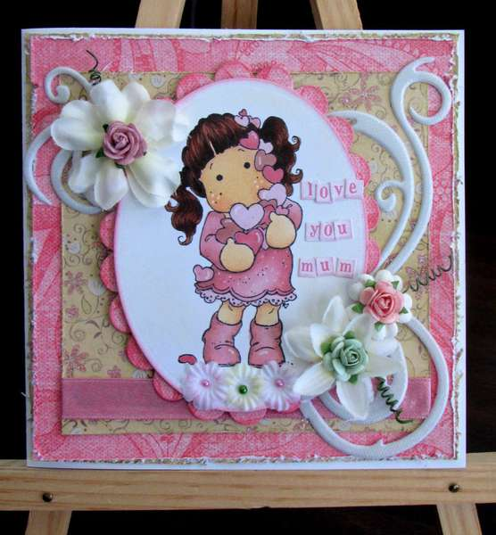 Mother's day card - Flourish with a Bling