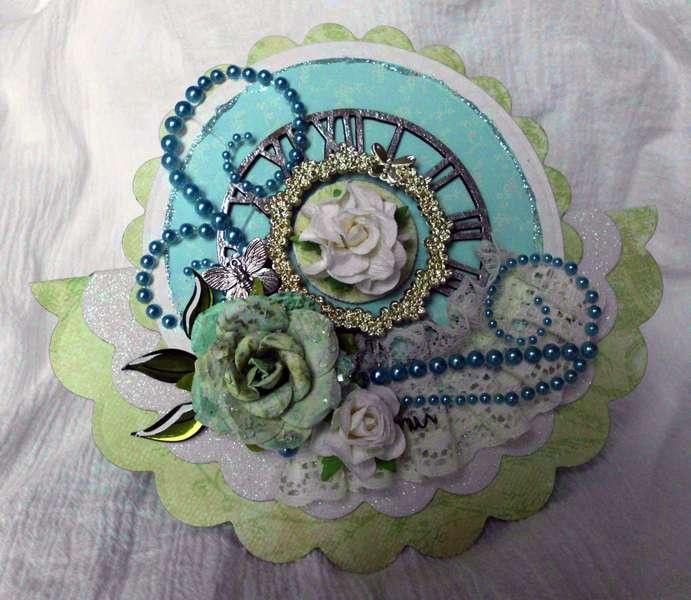 Circular card - Flourish with a Bling
