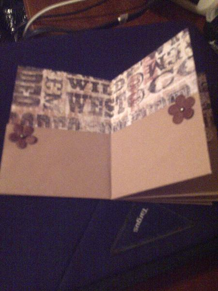 Inside Pages 1 and 2 of Mini Album