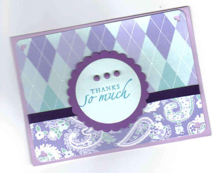 Purple/Teal Thanks So Much