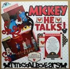 Mickey Mouse- He TALKS! ( left)
