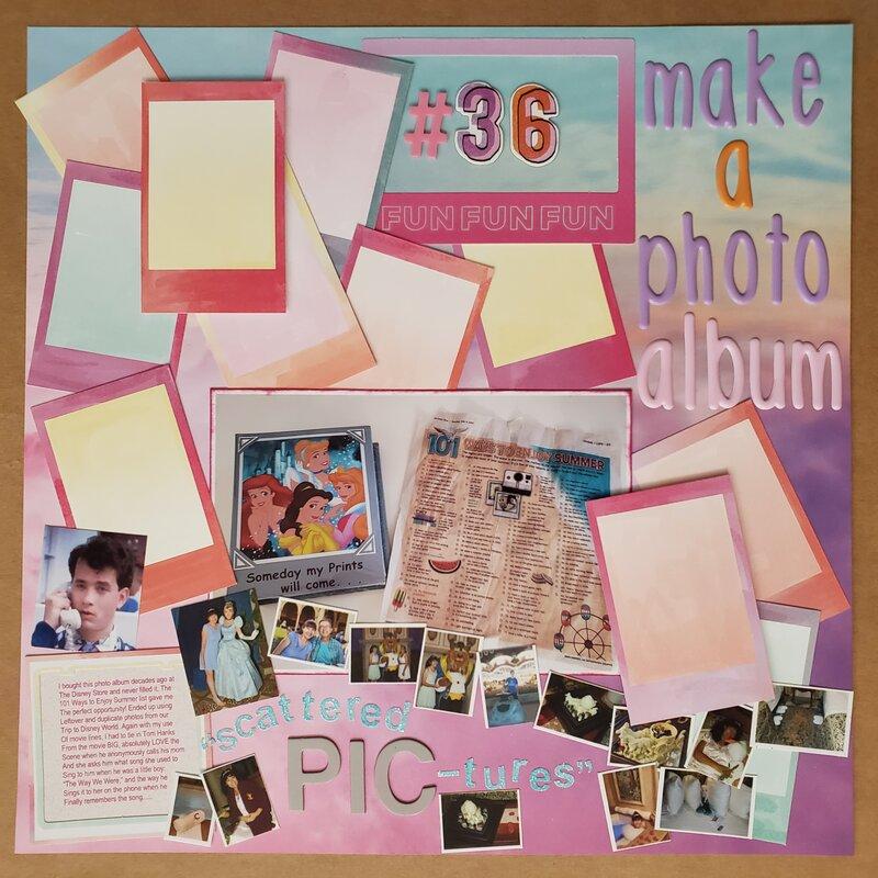 #36: Make a Photo Album, 101 Ways to Enjoy Summer