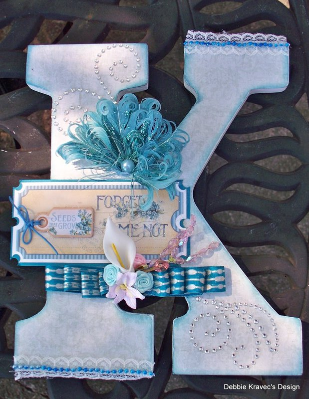 Altered Wood Letter/Maja Vintage Spring Paper Line