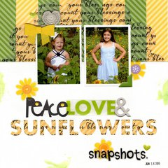 peace, love & sunflowers (Bella Blvd) || HappyGRL