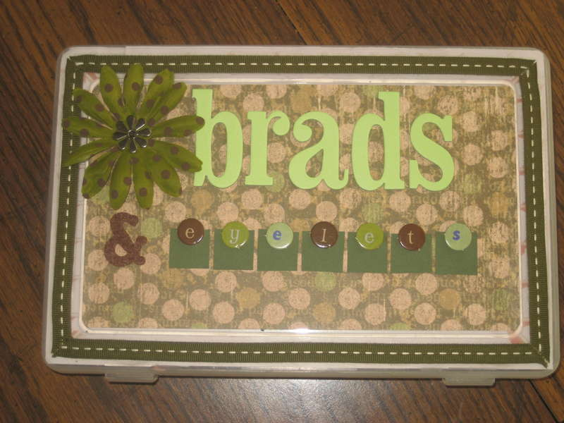 Brads and Eyelet storage