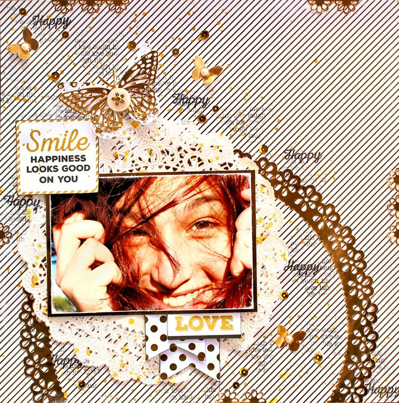 """Smile - Kaisercraft """"A Touch of Gold"""""""