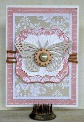 Butterfly Card - Back to Basics Kaisercraft
