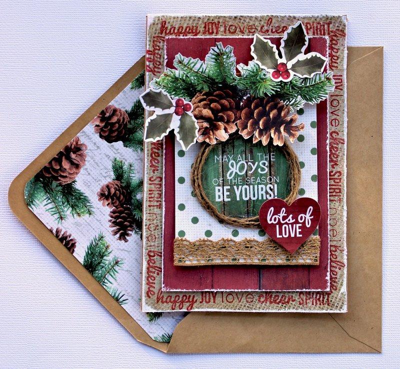Joys of the Season Christmas Card - Kaisercraft