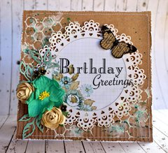 Birthday Greetings  - Manor House Creations