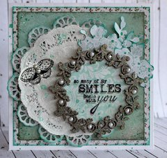 Doily Card - Kaisercraft DT - Blue Bay Collection