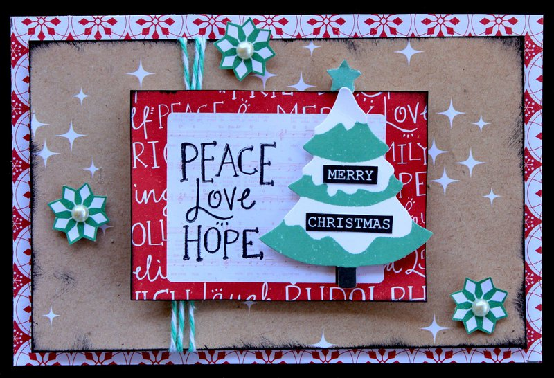 Peace Love Hope - Kaisercraft Holly Jolly