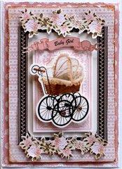 Baby Girl Card - Kaisercraft DT