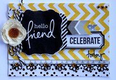 Hello Friend Card - Shine Bright Kaisercraft