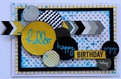 Happy Birthday Card - Shine Bright Kaisercraft
