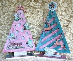 Funky Christmas Trees - Kaisercraft Silver Bells