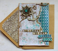 Kaisercraft DT - Birthday Wishes Card - Sandy Toes Collection