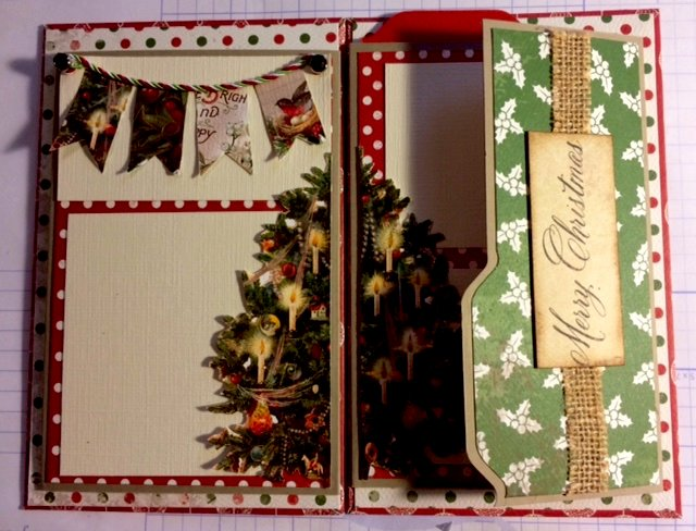 Christmas in July Flip Album with Envelope Punch Board