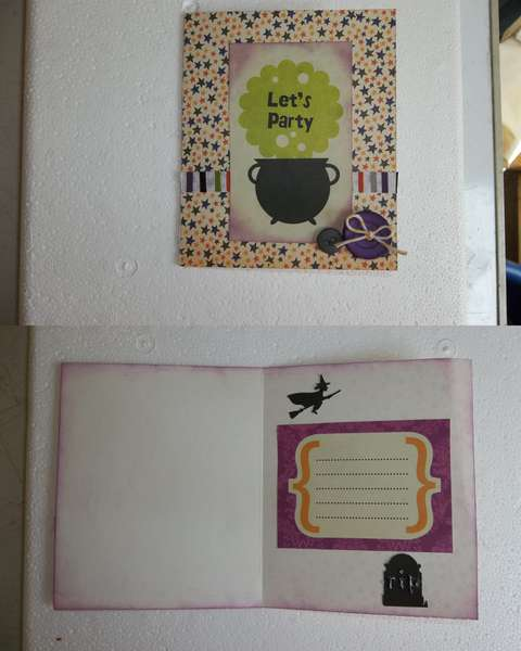 Halloween card for Snail Mail challenge