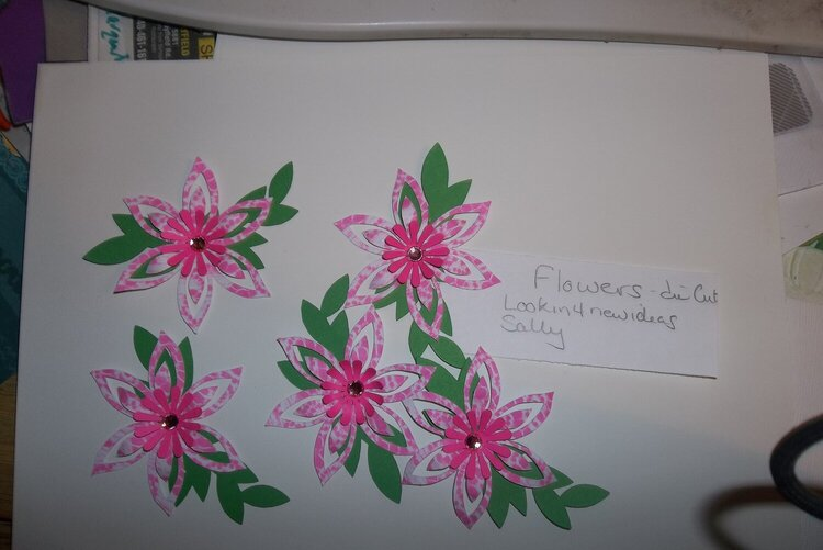 March die cut swap - flowers