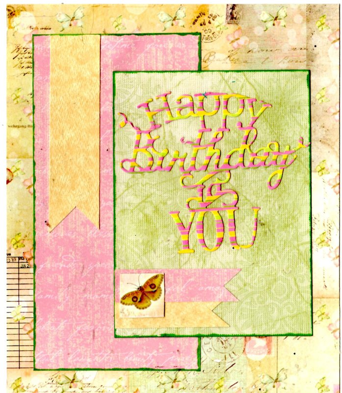 May Card sketch challenge #3, Happy Birthday