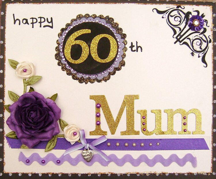 Card for Mum's 60th