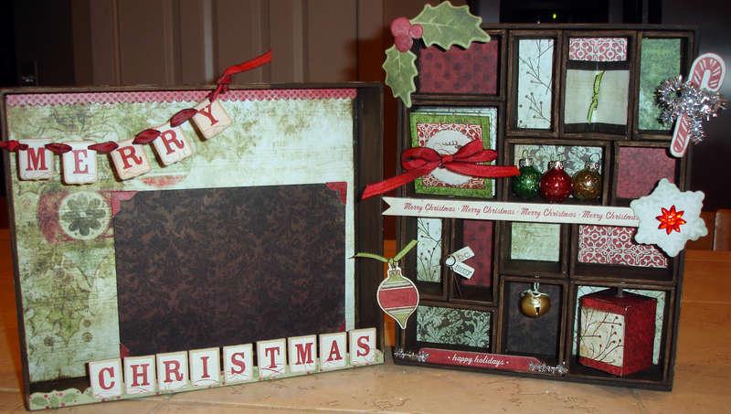 Merry Christmas Shadow Box using Tim Holtz Configurations