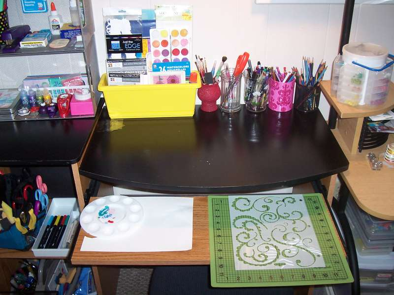 Right side of desk