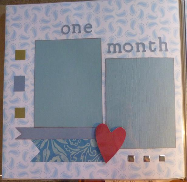 Baby Book--One month