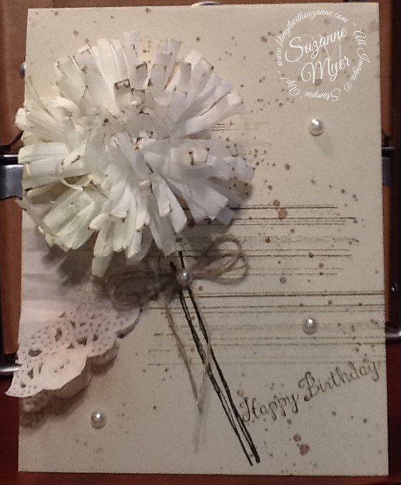 Flower Fringe card