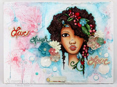 Bloom Girl Mixed Media Canvas