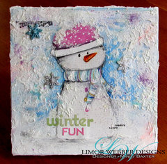 Winter Fun Mixed Media Canvas