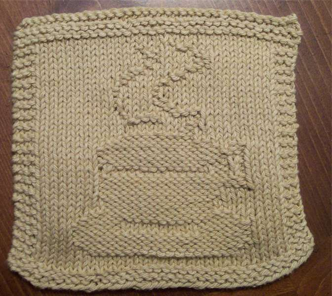 coffee cup dishcloth
