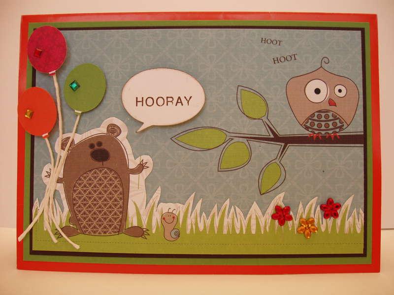 Owl Birthday/ Pop up