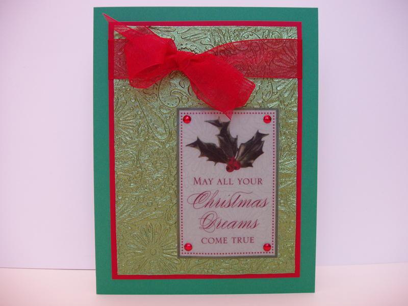 embossed foil Christmas