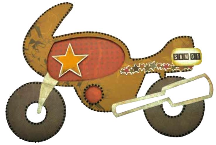 Motor Bike Diecut