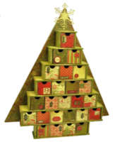 Large Advent Tree Calendar