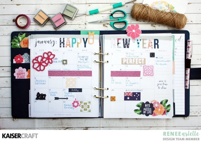 Tropical January Planner Layout