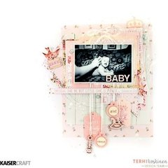 'Baby' Scrapbook Layout