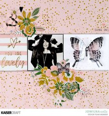 You Are Lovely Layout by Jowlina