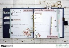 November Planner Layout using Romantique