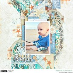 Baby at the Beach Layout