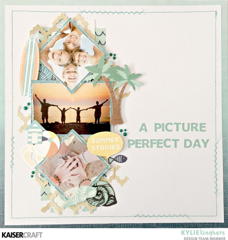 Picture Perfect Summer Scrapbook Spread
