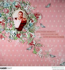 Live Every Moment Shabby Chic Layout